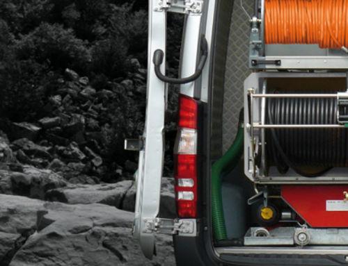 ROM ECOFIT gépjárműbe építhető nagynyomású csatornatisztító berendezés
